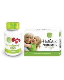 Holistix Cranberry 60's & Probiotic 10's