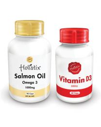 Holistix Salmon 1000mg 90's & Vitamin D3 500iu 60's
