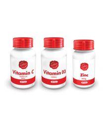 Holistix Triple Flu Combo (Vit C 60's / Vit D3 60's / Zinc 30's) (Special Pack)