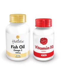 Holistix Fish Oil 1000mg 90's & Vitamin D3 1000iu 60's